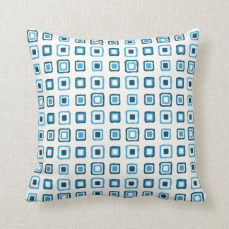 Blue Squares in Blue Squares Cushion