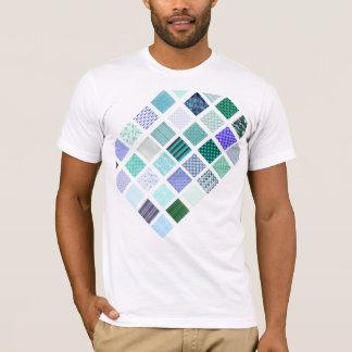 Blue squares mosaic pattern T-Shirt