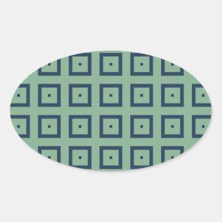 Blue Squares Stickers