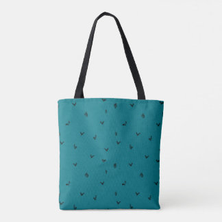 Blue squirrel pattern tote bag