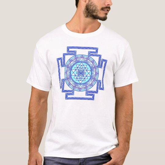 blue sri yantra T-Shirt