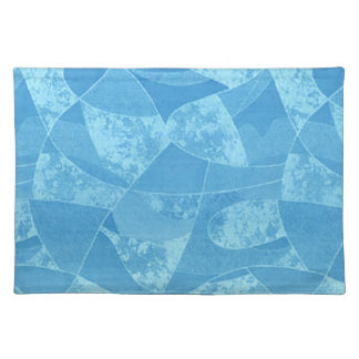Blue Stain Glass Placemat