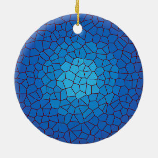Blue Stained Glass Design >Xmas Ornament