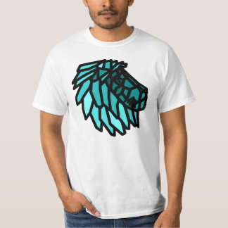 Blue Stained Glass Lion T-Shirt