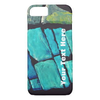 Blue Stained Glass Phone Case -- Customizable