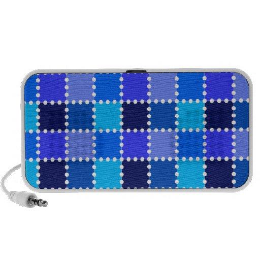 Blue Stamp Pattern Travel Speaker