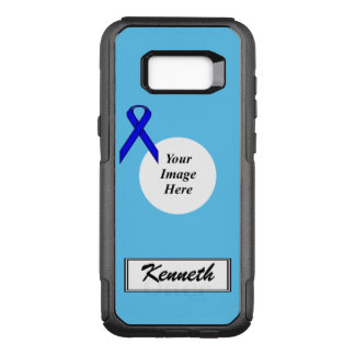 Blue Standard Ribbon Template by Kenneth Yoncich OtterBox Commuter Samsung Galaxy S8+ Case