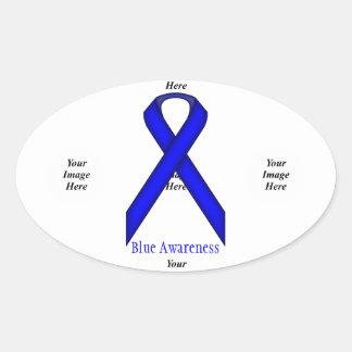 Blue Standard Ribbon Template Stickers