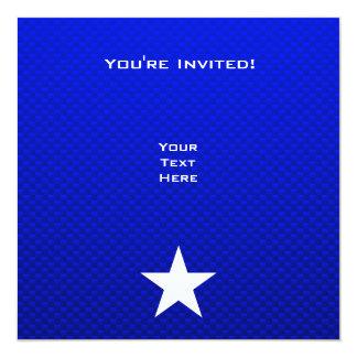 Blue Star 13 Cm X 13 Cm Square Invitation Card