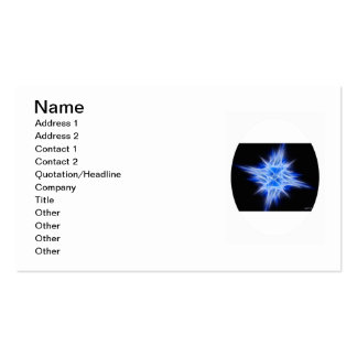 Blue Star 1 Double-Sided Standard Business Cards (Pack Of 100)