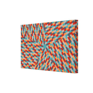 Blue star abstract design stretched canvas prints