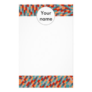 Blue star abstract design stationery