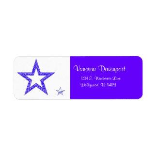 Blue Star Address Labels