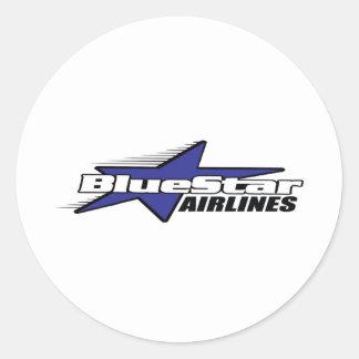 Blue Star Airlines Round Sticker