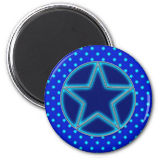 Blue Star and Dots Refrigerator Magnets