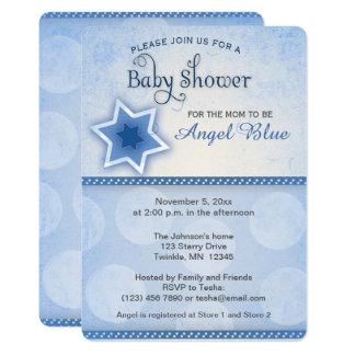 Blue Star Baby Boy Shower Invitaton Card