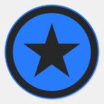 Blue Star Classic Round Sticker