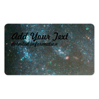Blue Star Clusters and Distant Galaxies Near Edge Pack Of Standard Business Cards