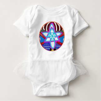 BLUE STAR Cosmic Healing  Reiki Karuna Symbol Baby Bodysuit