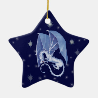 Blue Star Dragon Christmas Ornament