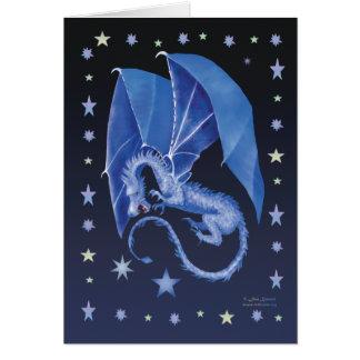 Blue Star Dragon Greeting Card
