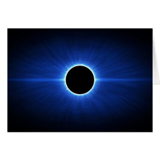 Blue Star Eclipse Greeting Card