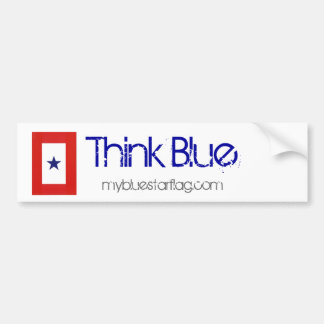 Blue Star Flag Bumper Sticker