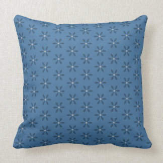 Blue Star Flower Cushion