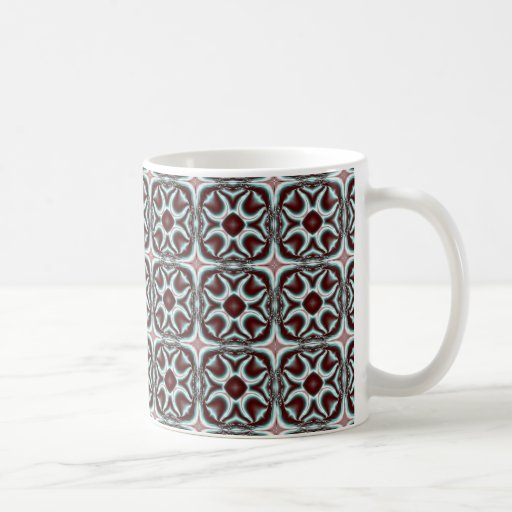 Blue Star Fractal Coffee Mug