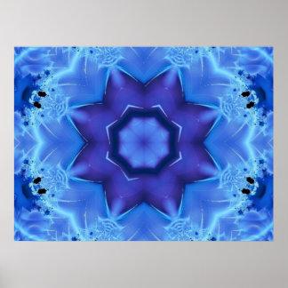 Blue Star Fractal Poster Print