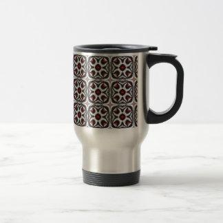 Blue Star Fractal Stainless Steel Travel Mug