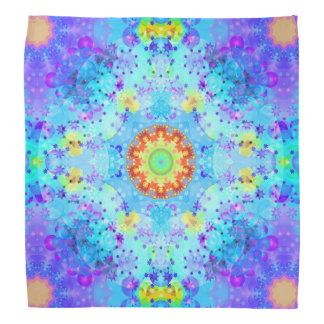 Blue Star Hippy Mandala Patterned Bandana