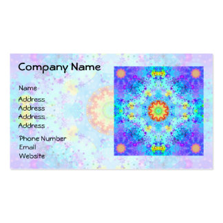 Blue Star Hippy Mandala Patterned Business Card Templates