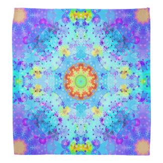 Blue Star Hippy Mandala Patterned Kerchief