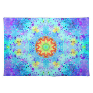 Blue Star Hippy Mandala Patterned Placemat