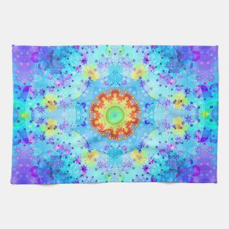 Blue Star Hippy Mandala Patterned Tea Towel