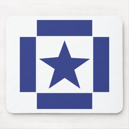 blue star icon mouse mat