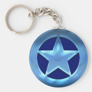 Blue Star Key Chains