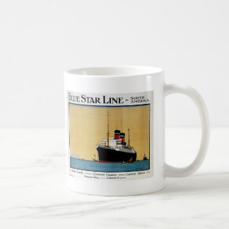 Blue Star Line South America Coffee Mug