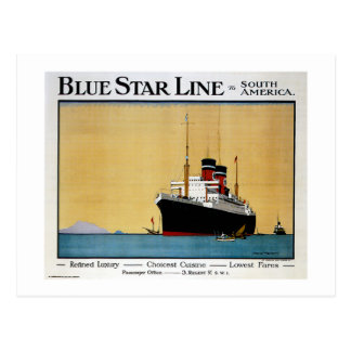 Blue Star Line South America Postcard