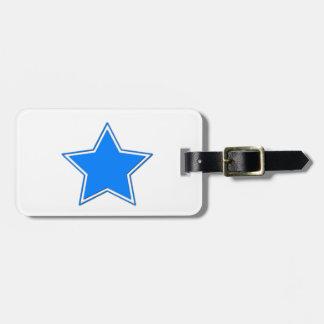 Blue Star Luggage Tag