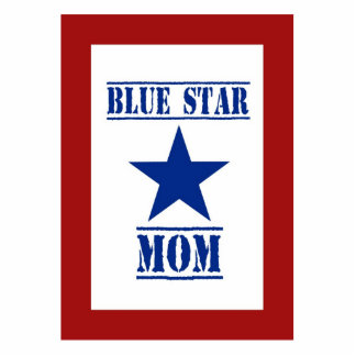 Blue Star Mom Military Standing Photo Sculpture