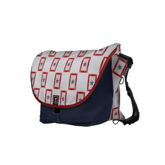 Blue Star Mom Patriotic Military Mothers Messenger Bag