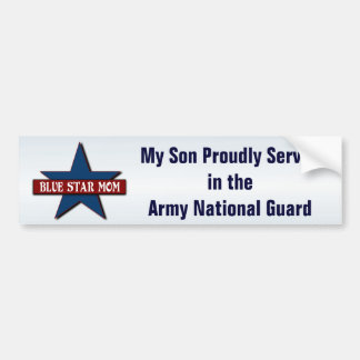 Blue Star Mom   Son in Army National Guard Bumper Sticker
