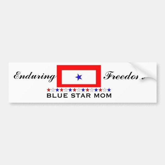Blue Star Mum Bumper Sticker
