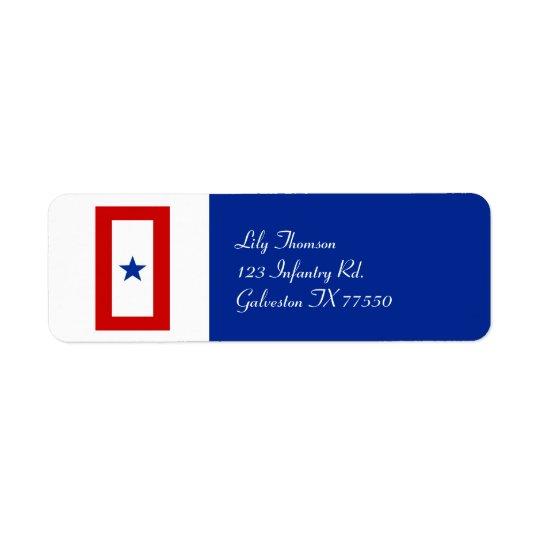 Blue Star Mum Military Personalised Return Address Label
