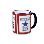 Blue Star Mum Military Ringer Mug