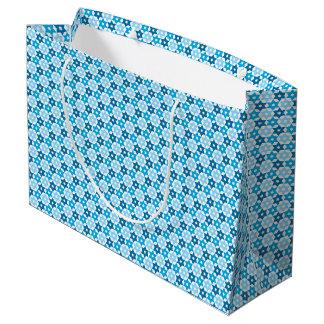 Blue Star Of David Large Gift Bag