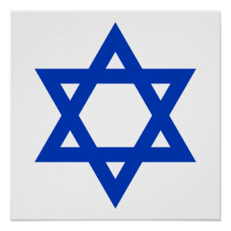 Blue Star of David Poster