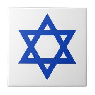 Blue Star of David Tile